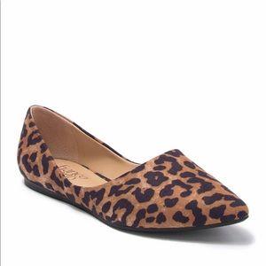 NWOT Franco Sarto Leopard Pointed Flat size 6